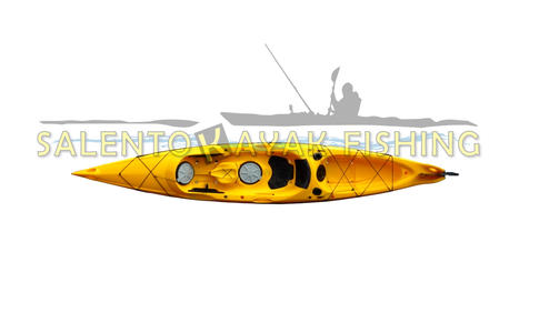 Mission Catch 420 - kayak da pesca o turismo - 420 cm - completo accessori