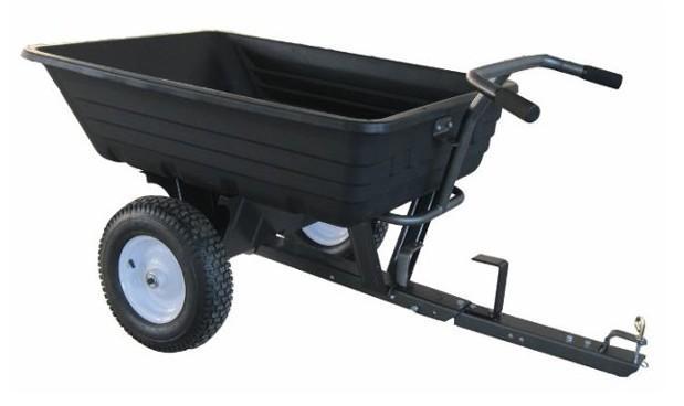Carrello rimorchio in plastica per trattorino AMA portata 300 kg cassone ribaltabile - 84924