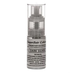 Spray glitter argento scuro Sugarflair 10 gr