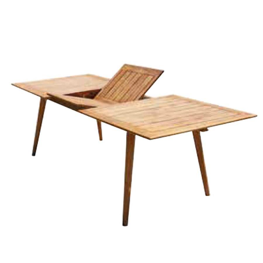 Tavolo da giardino VALLADOLID allungabile 180/240 x 100 cm in acacia oleata anticata RTA 313