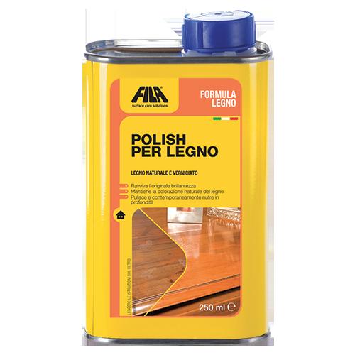 FILA polish per legno FORMULA LEGNO pulisce nutre il legno ML.250