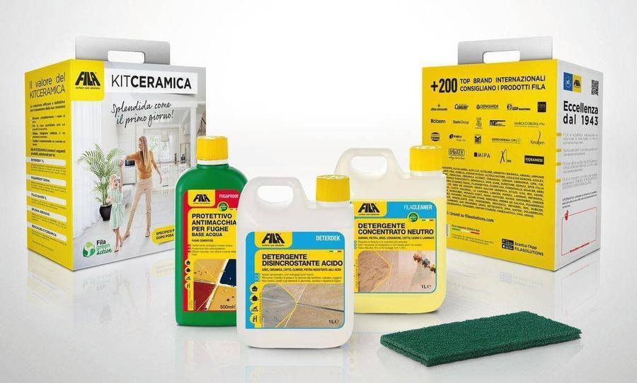 Fila KITCERAMICA kit prodotti specifici per la pulizia manutenzione dopo posa dei pavimenti