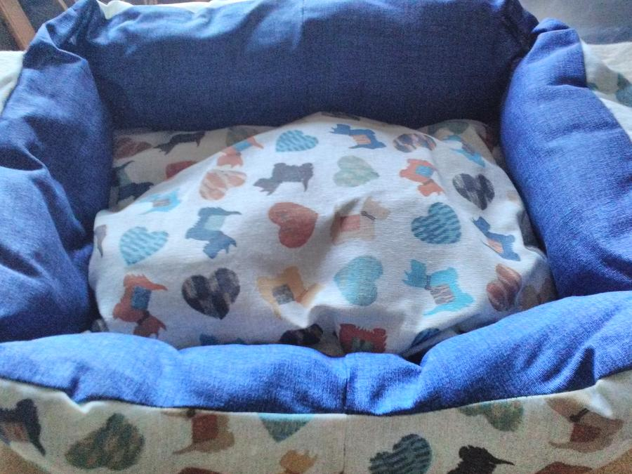 Cuccia cotone fantasia cani piccola