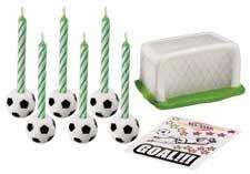 set decorazione candele calcio Wilton