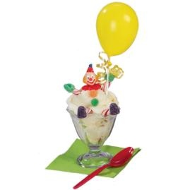 set 6 teste clown per decorare