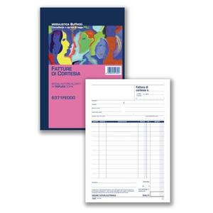 BLOCCO FATTURE DI CORTESIA 1 ALIQUOTA TRIPLICE COPIA 33X3 AUTORICALCANTE A5 - BUFFETTI 6371FE000