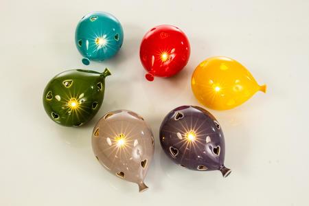 Lampada led palloncini colorati 6 assortiti, linea Cuor di Luce