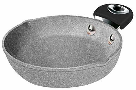 BIALETTI Padella EGG PAN DONATELLO PETRAVERA Ø 16 cm 1 manico new model NATURAL STONE Induzione Pietra Granitium Stone
