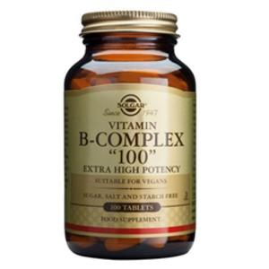 Solgar Vitamin B-Complex `100` Extra High Potency - 50 Vegicaps