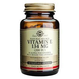 Solgar Vitamin E 134mg - Mixed Tocopherols - 50 x 200iu Softgels