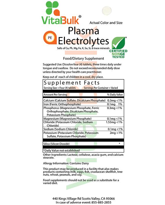PLASMA ELECTROLYTES – 2 OZ