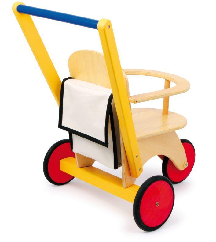 """Triciclo per Bambole e Peluches """"Buggy"""" della Legler Saldi"""