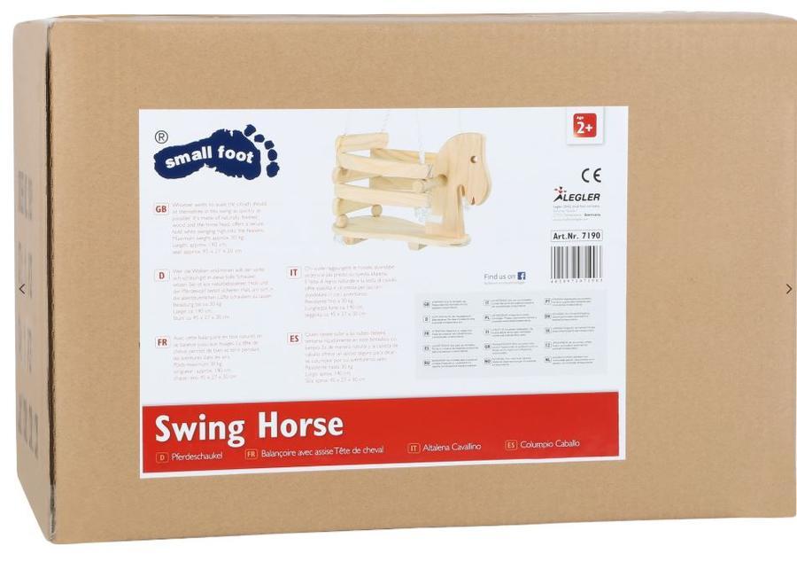 Altalena Cavallo Pony in Legno per Bambini della Legler Saldi