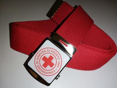 Cintura CRI croce rossa italiana colore rosso