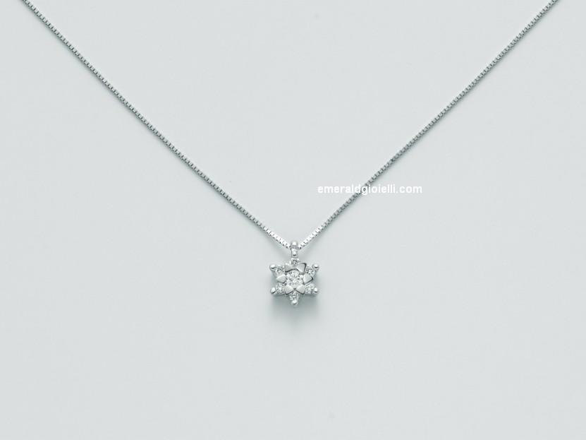 CLD4114 Girocollo con Diamante Miluna -