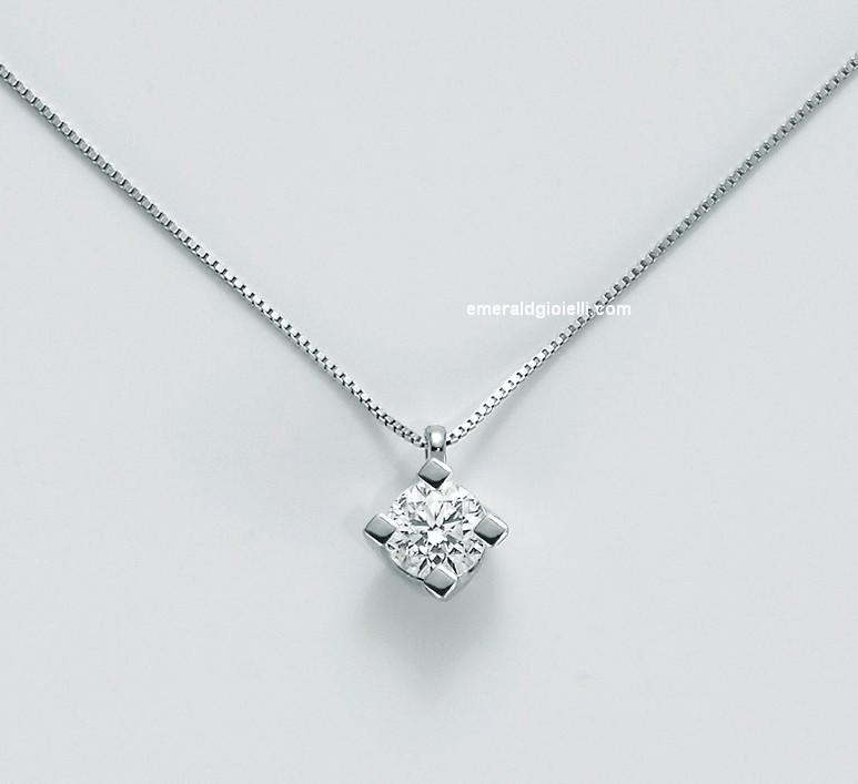 CLD5065-022g7 Girocollo con Diamante centrale Miluna -
