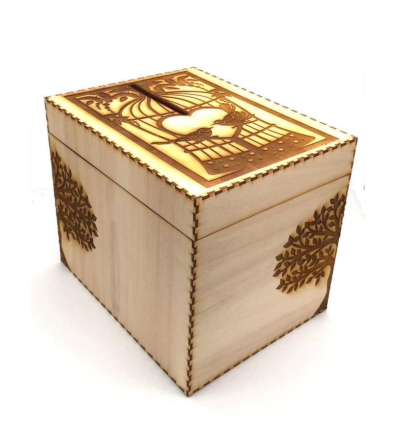 Scatola porta buste regalo - Albero della vita