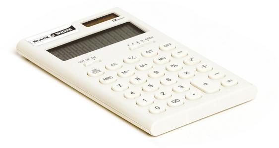 Calcolatrice Solare 12 cifre 11x7 cm BLACK & WHITE