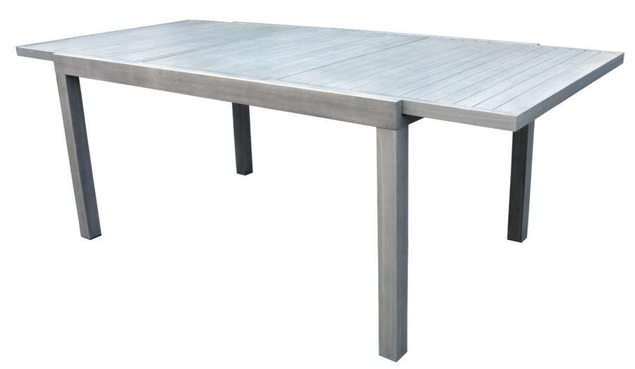 Tavolo da giardino VERBIER ALLUNGABILE 150/210 x 90 cm DINING SET IN ALLUMINIO  RTA 28 Grigio chiaro
