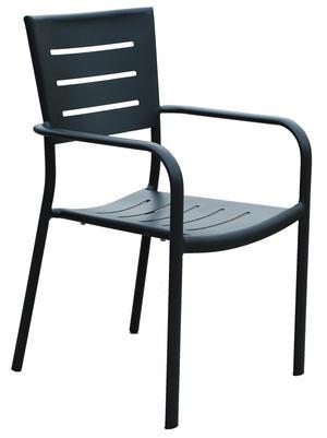 Sedia da giardino in alluminio IMPILABILE CHIAVARI antracite CHA 27G