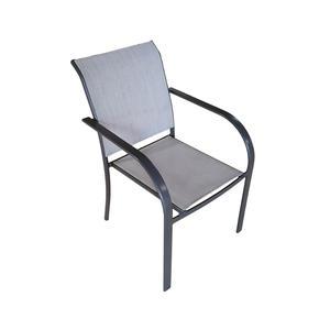 Sedia da giardino in alluminio e textilene LUCCA antracite CHA 28