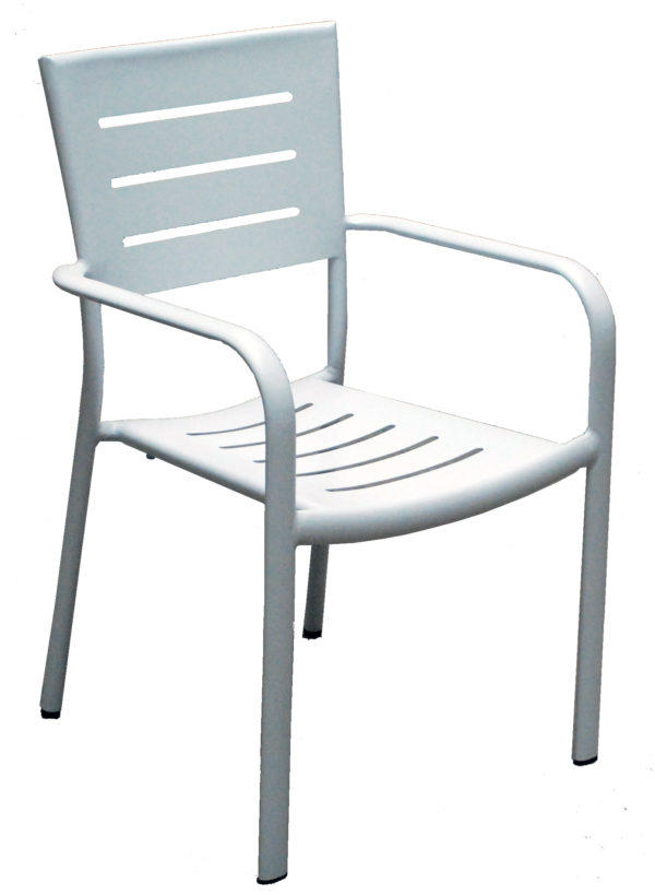 Sedia da giardino in alluminio IMPILABILE CHIAVARI bianco CHA 27 BI