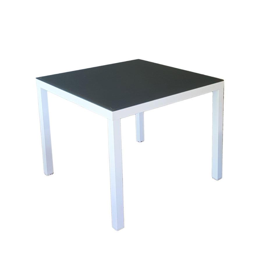 Tavolo da giardino in alluminio 90 x 90 cm JESI bianco STA 24