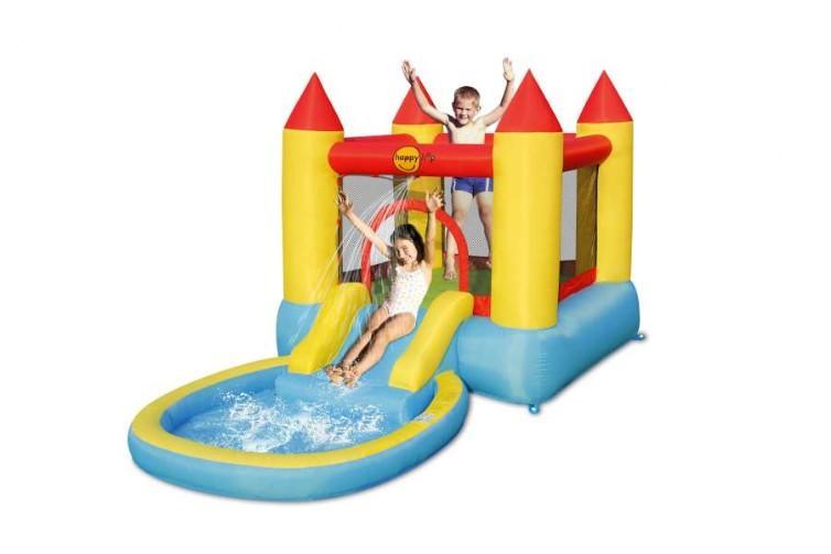 Gonfiabile per bambini CASTELLO CON PISCINA per feste bambini cod 9820