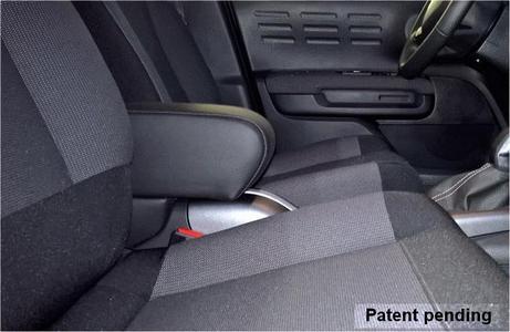 Bracciolo regolabile con portaoggetti per Citroen C3 Aircross