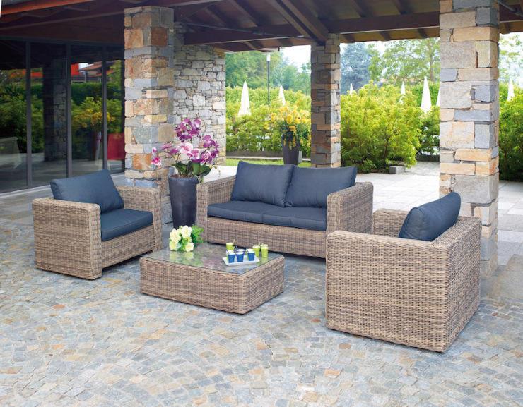 Set divanetto professionale trinidad divano poltrone tavolino