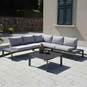 Salotto da giardino angolare CORNER SET LECCO in alluminio antracite SET 94