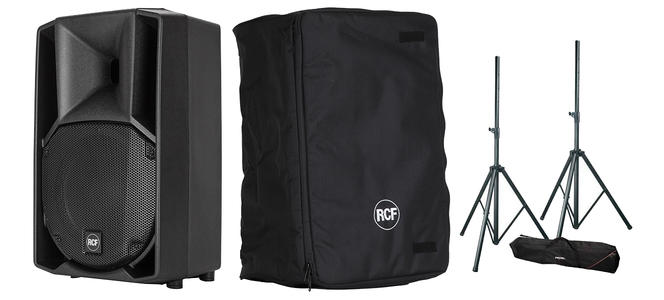 Coppia RCF ART 710-A MK4 + Cover e Stativi