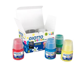 Giotto Decor Acrylic effetto opaco - 25 ml - 6 Colori Assortiti
