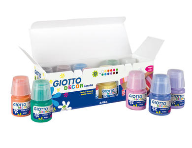 Giotto Decor Acrylic effetto opaco - 25 ml Colori Assortiti