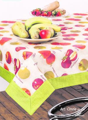 Tovaglia Cinzia frutta quadrata 140x140
