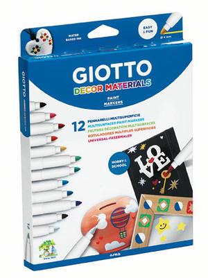Giotto Decor Materials Colori Assortiti - 12 pz