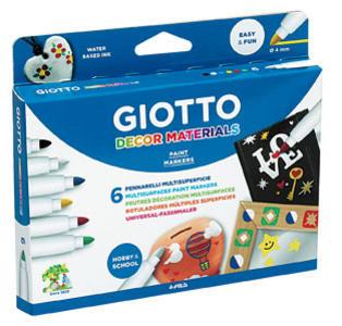 Giotto Decor Materials Colori Assortiti - 6 pz