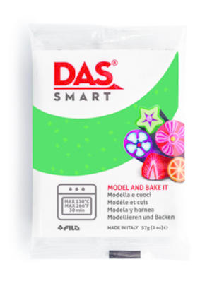 DAS Smart  Glitter Verde panetto 57 gr