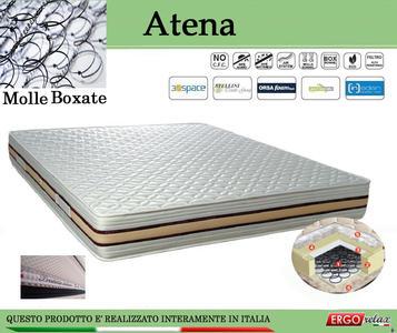 Materasso a Molle Boxate Mod. Atena Singolo da Cm 80x190/195/200 Fodera Cotone Fascia TreD Altezza Cm. 24 - Ergorelax