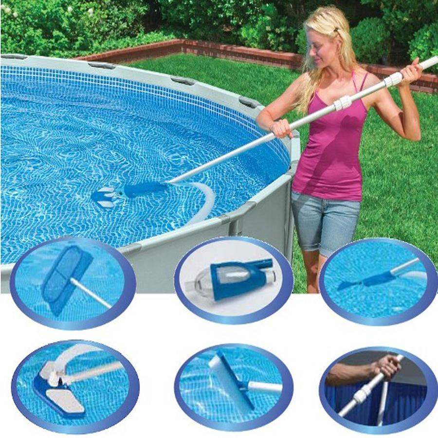 Kit set accessori retino pulizia manutenzione piscina delux intex 28003