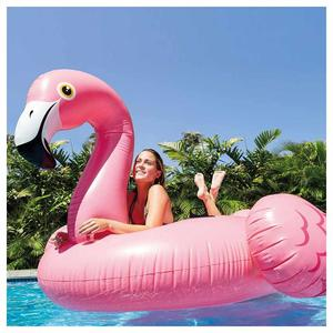 Materassino Fenicottero Rosa Flamingo INTEX 56288 Gigante Gonfiabile Galleggiante Piscina Feste Mis 218 x 211 x 136 cm