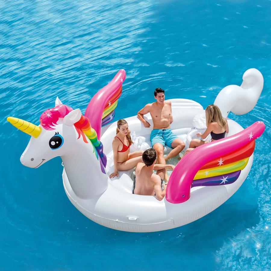 Gonfiabile per feste ISOLA PARTY UNICORNO 57266 INTEX Mega Isola Party Unicorno Intex 503x335x173