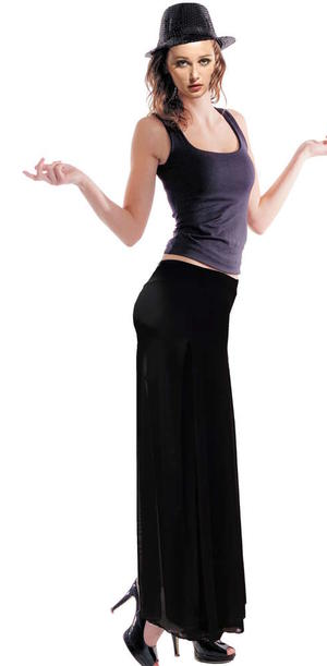 PANTS JERSEY DUBBED WITH PANELS TULLE SLIM SIZE SM 1-0016