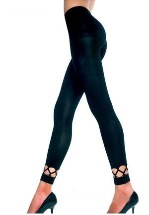 LEGGINGS OPAQUE INSERT NET ANKLE 11-0006