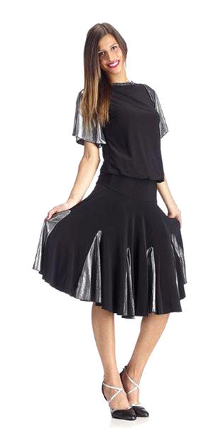 DRESS FOR DANCE A WHEEL WITH INSERTS LAMINATE SILVER 4-0036D