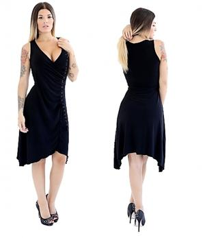 TANGO DRESS ESOCIAL DANCE IN TACTEL JERSEY AND BLACK LACE 4-0098