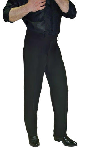 DANCE PANTS FOR MEN NARROW WITHOUT PENCE WITH THROUGH 7-0002B