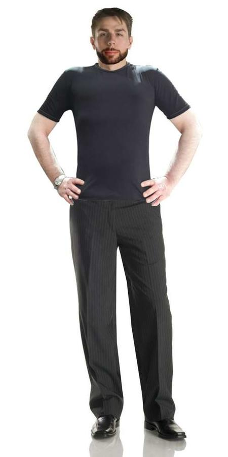 DARK GRAY GENTLE TROUSERS DANCE SOCIAL DANCE AND TANGO 7-0007