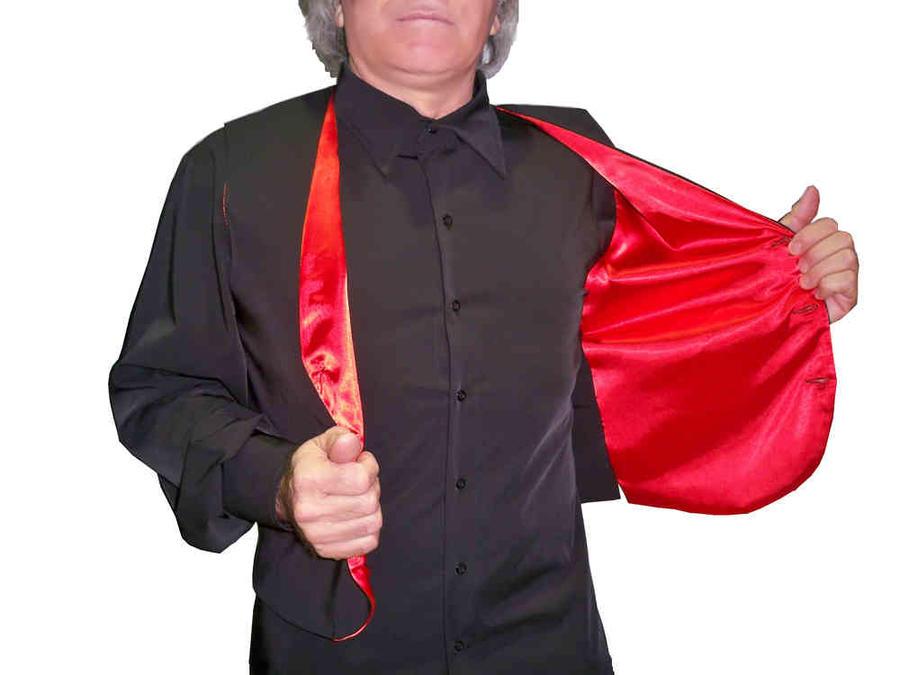 GILET DA TANGO CON FODERA IN RASO ROSSO SENZA TASCHE 8-0001