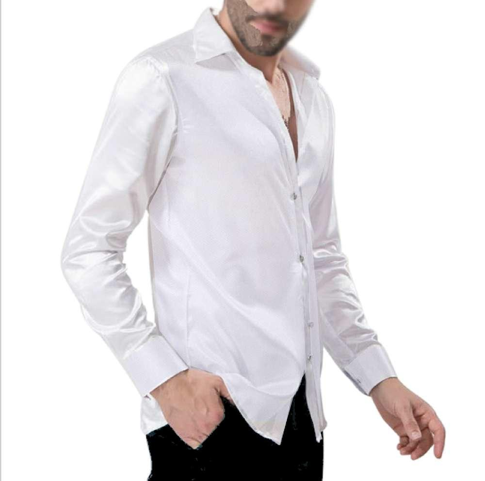 Da In Tecnico Camicia Bianca White Raso E Tessuto 9 Total 0004Uomo Stretch XZPkOTwiu